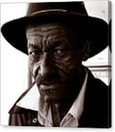 Legendary Bluesman And Folk Artist James Son Thomas Canvas Print