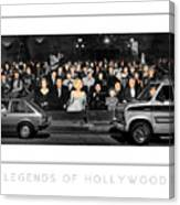 Legends Of Hollywood Poster Canvas Print