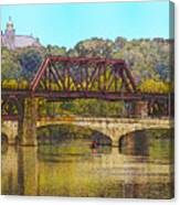 Lehigh River - Easton Pa Canvas Print