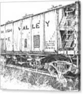 Lehigh Valley Coal Car Canvas Print