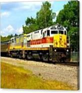 Lehigh Valley/ Lackawanna Engines Canvas Print