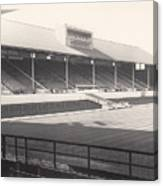 Leicester City - Filbert Street - Main Stand 1 - Bw - 1960s Canvas Print