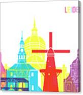 Leiden Skyline Pop Canvas Print