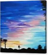 Lejeune Sunset Canvas Print
