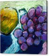Lemon And Grapes Canvas Print