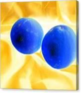 Lemon Blue Canvas Print