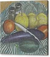 Lemon Cucumbers Canvas Print