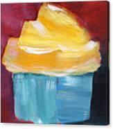 Lemon Cupcake- Art By Linda Woods Canvas Print