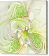 Lemon Lime Curly Canvas Print
