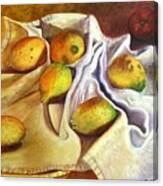 Lemons And Linen Canvas Print