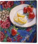 Lemons N Berries Canvas Print