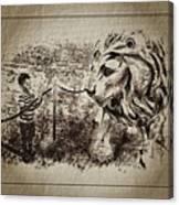 L'enfant Et Le Lion  Canvas Print