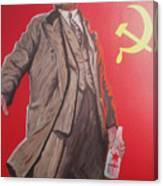 Lenin Gets Bolshi After A Bevi Canvas Print