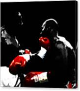 Lennox Lewis And Evander Holyfield  Canvas Print