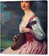 Lenoir Charles La Mandoline Canvas Print