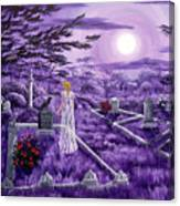Lenore In Lavender Moonlight Canvas Print