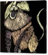 Leo, Rampant -- Negative Sepia Canvas Print
