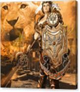 Leona Lioness Warrior  Canvas Print