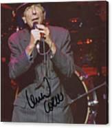 Leonard Cohen Autographed Canvas Print