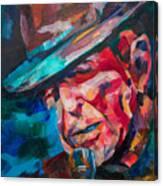 Leonard Cohen Canvas Print