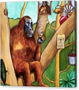 Leonardo The Orangutan Canvas Print