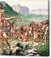 Leonidas Bids Farewell To Allies Canvas Print