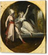 Leonore Discovering The Dagger Left By Alonzo Canvas Print