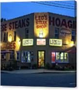 Leo's Steak Shop Canvas Print