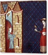 Leper House, C1220-1244 Canvas Print