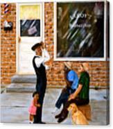 Leroys Barbershop Canvas Print