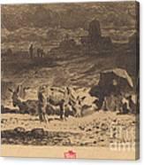 Les Anes De La Butte-aux-cailles (donkeys At La Butte-aux-cailles) Canvas Print