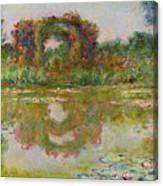 Les Arceaux De Roses. Giverny Canvas Print