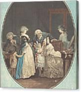 Les Bouquets, Ou La Fete De La Grand'maman Canvas Print