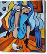 Les Chats Bleus Canvas Print
