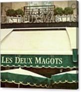 Les Deux Magots - #1 Canvas Print