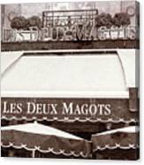 Les Deux Magots - #2 Canvas Print