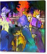 Les Filles Du Cafe De La Nuit Canvas Print