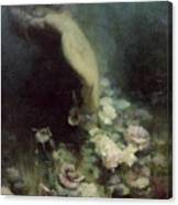 Les Fleurs Du Sommeil Canvas Print