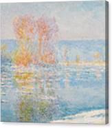 Les Glacons. Bennecourt Canvas Print