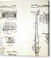 Les Paul Guitar Patent 1955 Canvas Print