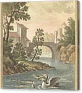 Les Poissons Et Le Cormoran (the Fish And Thecormorant) Canvas Print