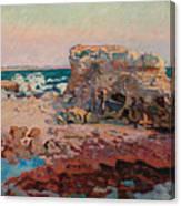 Les Rochers A Saint Palais Canvas Print