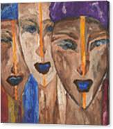 Les Visages II Canvas Print