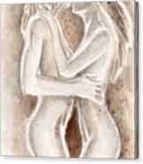 Lesbians Kissing Canvas Print
