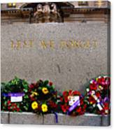 Lest We Forget War Memorial Martin Place Canvas Print