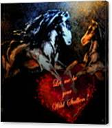 Let Me Be Your Wild Stallion Canvas Print