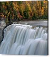 Letchworth Falls Sp Middle Falls Canvas Print