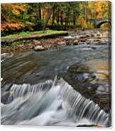 Letchworth Falls Sp Wolfe Creek Canvas Print