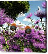 Two Bumblebees Discover The World Canvas Print