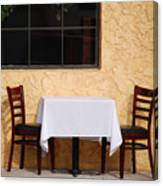 Lets Have Lunch Together Canvas Print